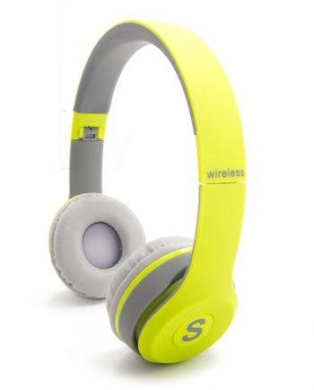 WIRELESS STEREO HEADPHONES TM-019S GEEL-0