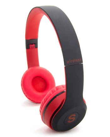 WIRELESS STEREO HEADPHONES TM-019S rood en zwart-0