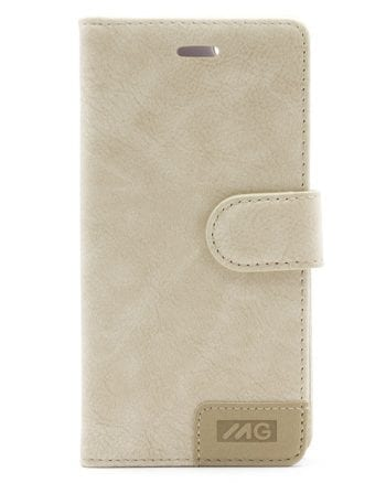 IPHONE 6/6S BEIGE BOOKCASE MG-0