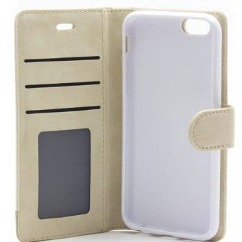 IPHONE 6/6S BEIGE BOOKCASE MG-12505