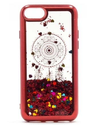 Apple iPhone 6(s) Hoesje Glitter Rood-0