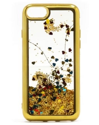 Apple iPhone 6(s) Hoesje Glitter Goud-0