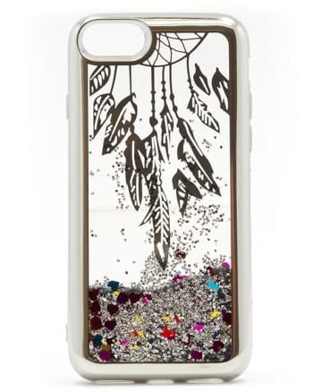 Apple iPhone 6(s) Hoesje Glitter Zilver-0