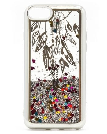 Apple iPhone 7/8 Hoesje Glitter Zilver-0