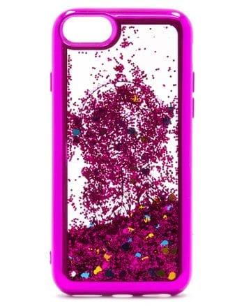 Apple iPhone 7/8 plus Hoesje Glitter PAARS-0