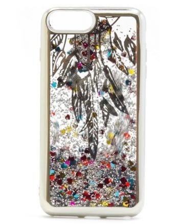 Apple iPhone 7/8 plus Hoesje Glitter ZILVER-0