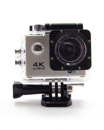SPORTS ACTION CAMERA PAKKET 4K ZILVER-0