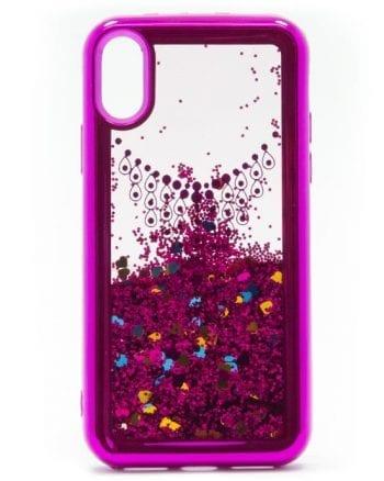 iphone x HOESJE GLITTER paars-0