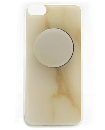APPLE iPhone 5/5S/SE beige marmer print-0