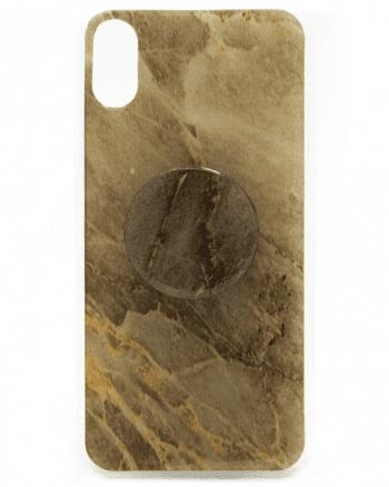 Iphone X HOESJE zwart/wit marmer print-0