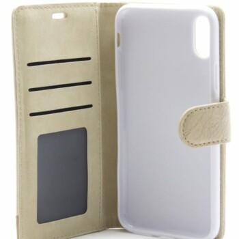 Apple iPhone X Smart Bookcase Beige-12461