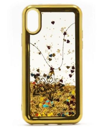 iphone x HOESJE GLITTER goud-0