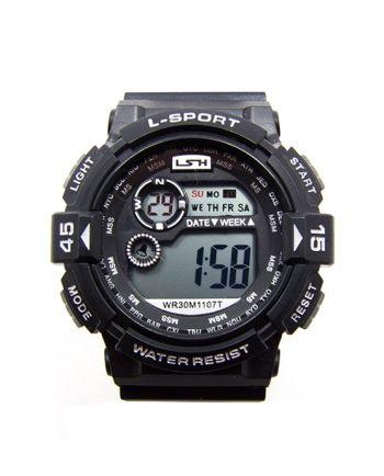 LSH 1107 SPORT WATCH ZWART-0