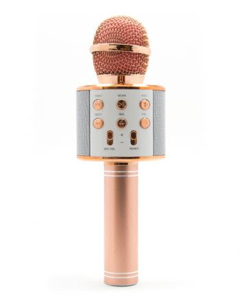 Karaoke Microfoon rose gold-0