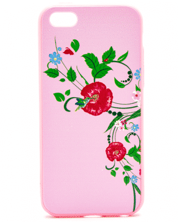 APPLE iPhone 5/5S/SE bloemen hoesje-0