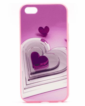 APPLE iPhone 5/5S/SE paarse hart-0