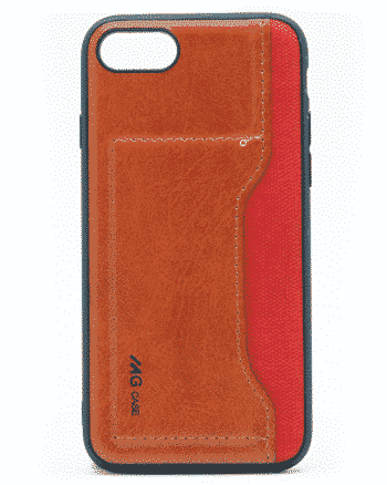 APPLE IPHONE 7/8 leer en kunststof rood-0