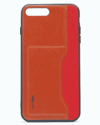 APPLE IPHONE 7/8 PLUS leer en kunststof rood-0
