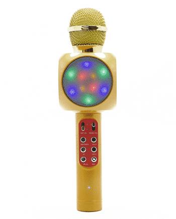 Karaoke Wireless Microfoon HIFI SPEAKER goud-0