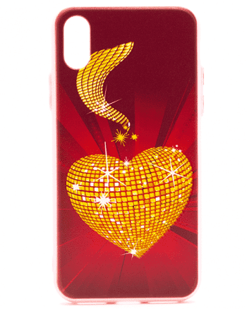 Iphone X gouden hart-0