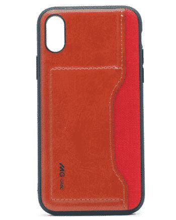 apple iphone XS leer en kunststof rood-0