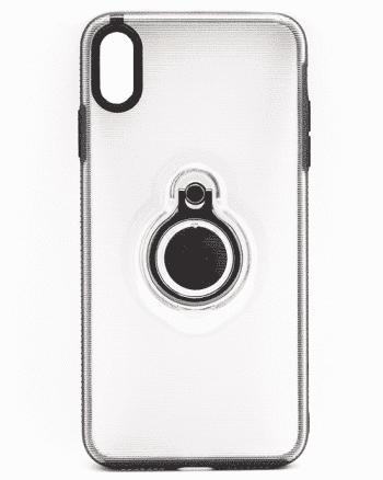Apple iPhone XS MAX Transparant / zwart hoesje-0