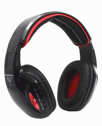 bluetooth headphone STN-05L ZWART EN ROOD-0