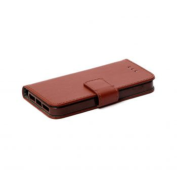 Telefoonhoes iPhone 6G/7G/8G Book Case Bruin
