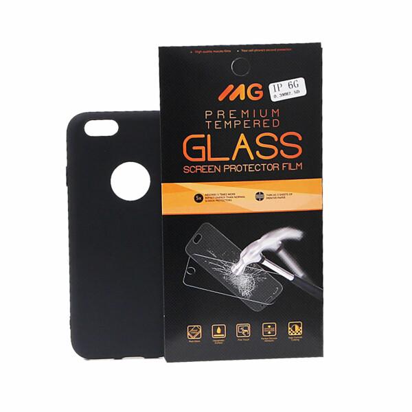 Zwart TPU hoesje iPhone / 6 / 6s voor een ultieme bescherming & Tempered Glass voor iPhone / 6 / 6s