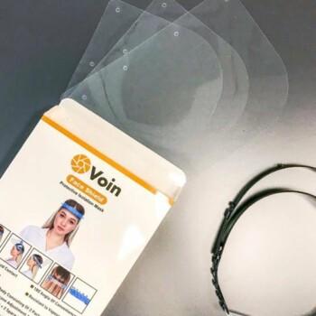 VOIN Gelaatscherm Spatscherm Gezichtsmasker Gezichtsscherm - Verstelbaar + 3 schermen