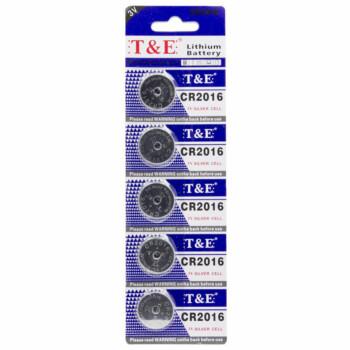 Knoopcel Batterijen - CR2016 - 5 Stuks In Verpakking