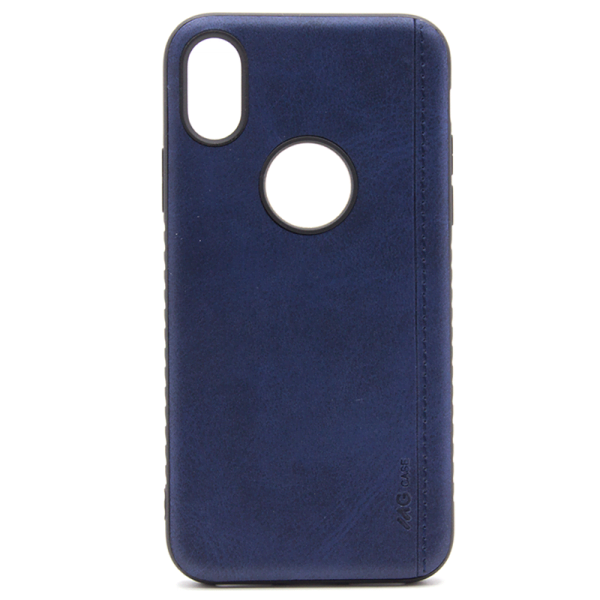 Apple iPhone XS Backcover - Blauw