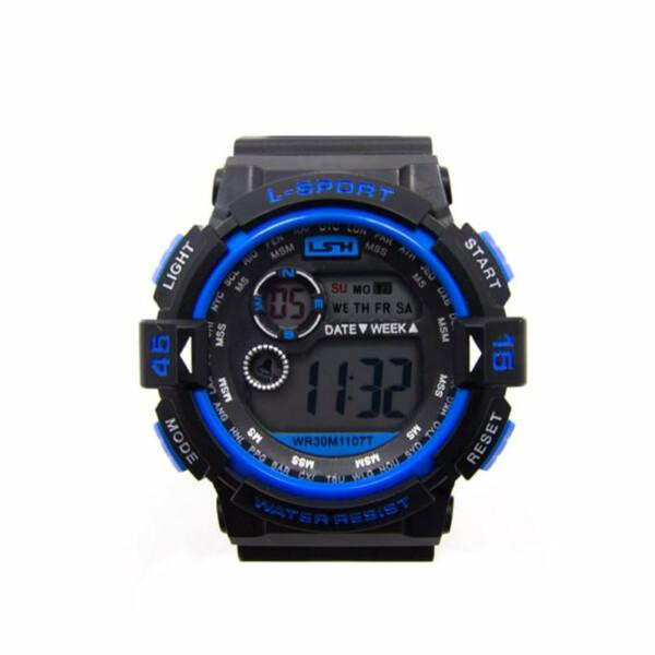 LSH 1107 Sport Watch Blauw En Zwart