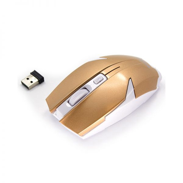 2.4 G Wireless Optical Mouse - Goud