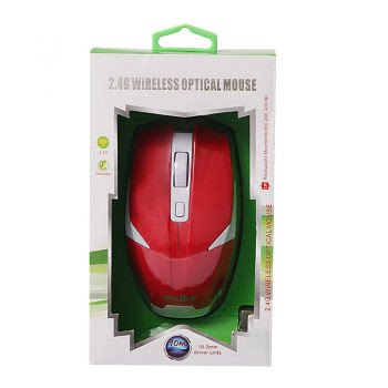 2.4G Wireless Optical Mouse - Rood