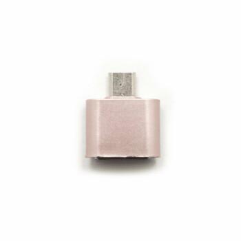 OTG Connector - Micro USB - Roze