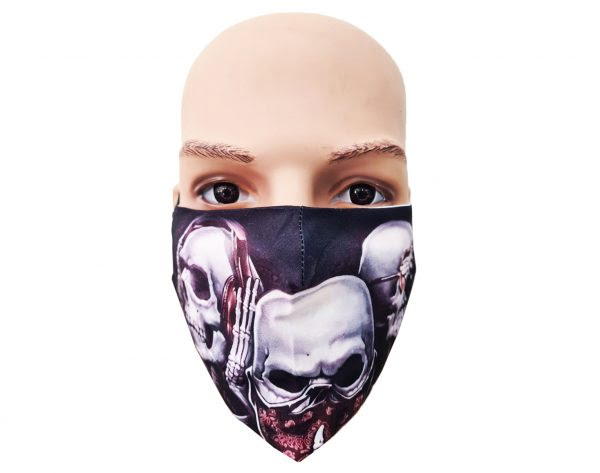 Fashion Mondkapje   Uitwasbaar   Skelet Model 3  Uitstekende Bescherming