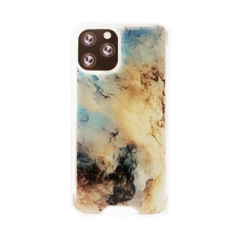 Apple iPhone 12 (Pro) - MG Design Backcover - Blue Marble