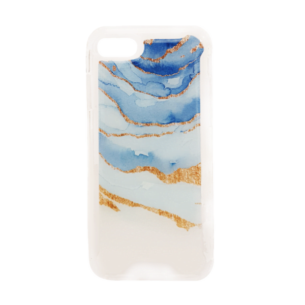 Apple iPhone 7 / 8 / SE (2020) - MG Design Backcover - Oceaanblauw Marble