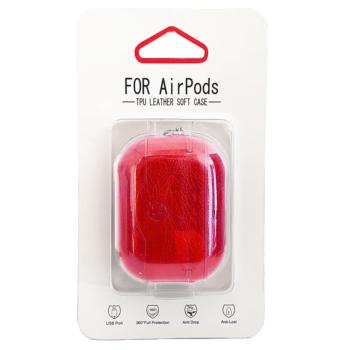 Airpods Pro Kunstlederen Hoesje - Rood