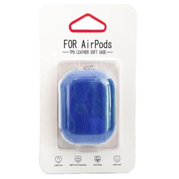 Airpods Pro Kunstlederen Hoesje - Blauw